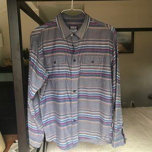 Patagonia striped flannel shirt